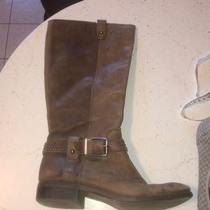 JESSICA SIMPSON CALF BROWN BOOTS 8.5